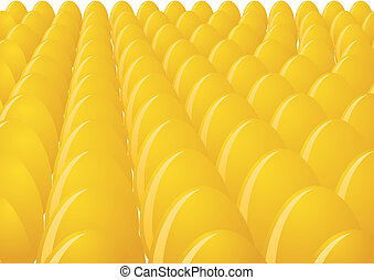 Eggs - Several eggs are yellow. The illustration on white...
