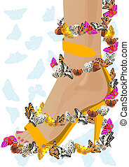 Flight of the butterfly - Womens shoes and flying...