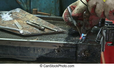 Working with the welder