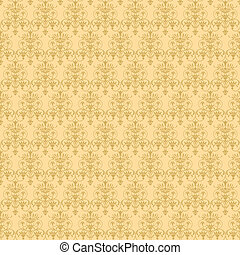 beige vegetable seamless pattern - illustration beige...