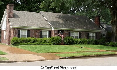 Middle Class American Home - Middle class American brick...