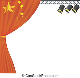 Theater China. vector