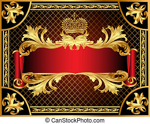 background gold  with pattern and net