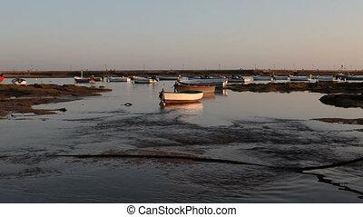 Boats - boats at sunset