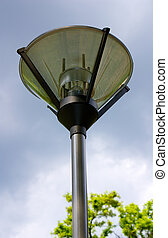 Lamp in the park - A modern lamp in the park