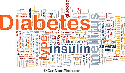 Diabetes disease background concept - Background concept...