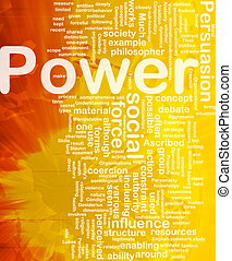Power background concept - Background concept wordcloud...