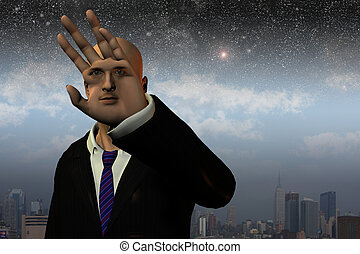 Surreal man before City and stars
