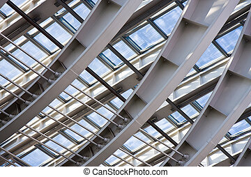 Modern roof architecture - Detail of the structure of a...
