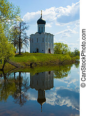 Church of the Intercession on the River Nerl in summer...