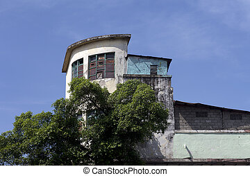 old architecture left at the colonial era in old city...