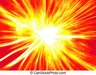 explosion - orange explosion background generated by the...