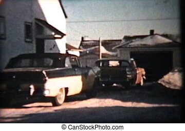 57 Ford Driving In Winter (1958) - A cool shot of a 57 Ford...