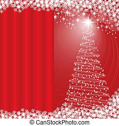 Xmas tree red background