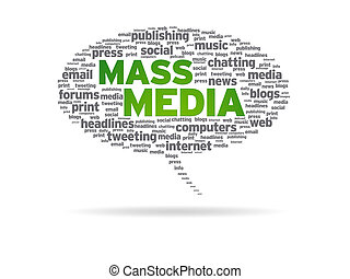 Speech Bubble - Mass Media - Speech bubble with the words...