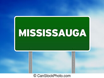 Green Road Sign - Mississauga - Green Mississauga raod sign...