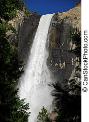 Bridalveil fall at Yosemite National Park California America