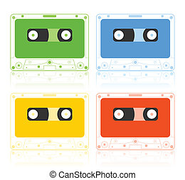 Musical film - Icon of a musical film of different colours A...