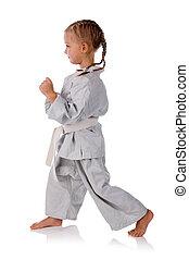 girl - karate in kimono