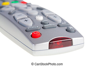 Television remote control on white background Isolated