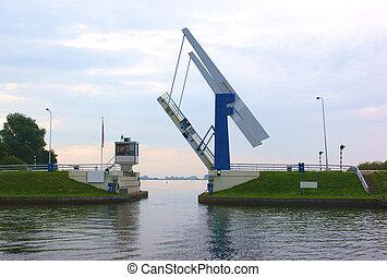 Open bridge in the netherlands - Open bridge in friesland...