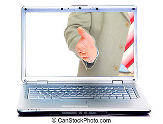 handshake in display modern laptops