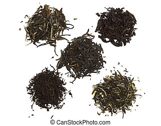 black, green and white tea - black orange pekoe, pu-erh,...
