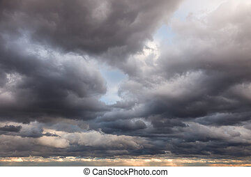 Natural background: clouds - Stormy sky