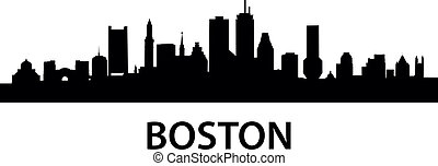 Skyline Boston - detailed silhouette of Boston,...