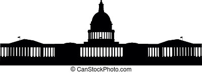 USCapitol - Illustration of the US Capitol, Washington DC...