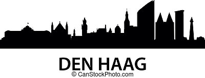 Skyline Den Haag - detailed illustration of Den Haag The...