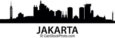 Skyline Jakarta - detailed vector illustration of Jakarta,...