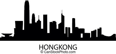 Skyline Hongkong - detailed vector illustration of Hongkong,...