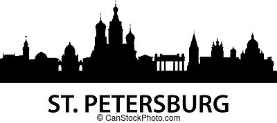 Skyline St. Petersburg - detailed illustration of St....
