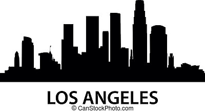 Skyline Los Angeles - detailed illustration of Los Angeles,...