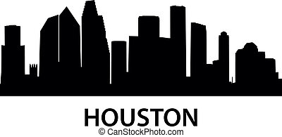 Skyline Houston - detailed illustration of Houston, Texas