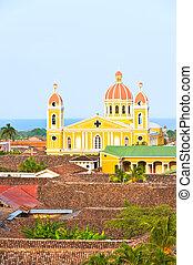 Nicaragua,  Granada,  cathedrak, lago