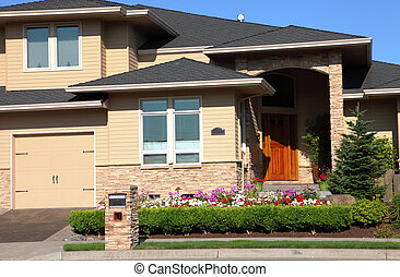 Houses in a suburb, Portland OR. - Architecture popular and...