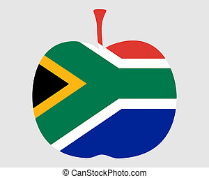 Apple with flag of south Africa