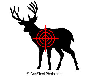 Red deer crosshair