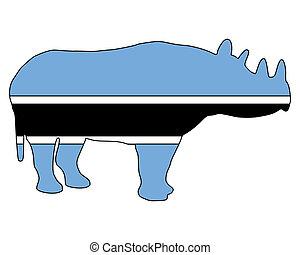 Botswana black rhino