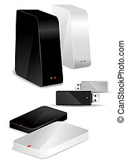 Portable Desk Hard Disks and USB drive - Different storage...