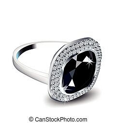 Diamond Ring. Vector