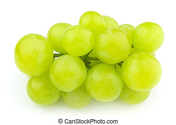 white grapes close up on the white