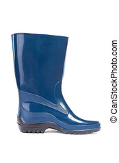 Gumboots Close-up - Gumboots Isolated on white Close-up