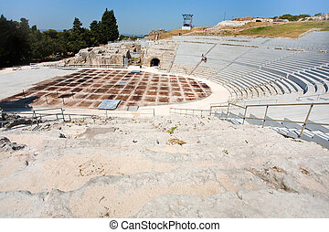 Teatro Greco in Syracuse, Italy - ancient Greek theater in...