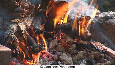 camp fire 3 - fire burns