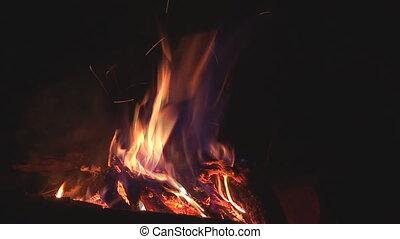 camp fire 11 - fire burns