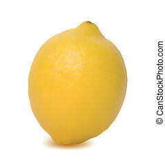 Yellow Lemon isolated on white background. Vector - Yellow...