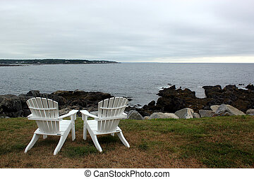 Exclusive view of the beach - Two private chairs overlook...